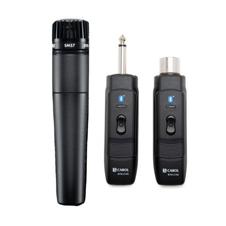 Shure SM57-LC Instrument Mic w/ Knox Mic Bluetooth Module Adapter & (Best Shure Sm57 Clone)