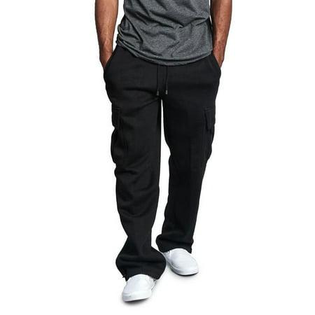 Hirigin Men Loose Fit Drawstring Cargo Trousers Work Pants Pocket Casual M-3XL Big Size Tracksuit Gym Sweatpants (Mens Xxl Sweatpants)