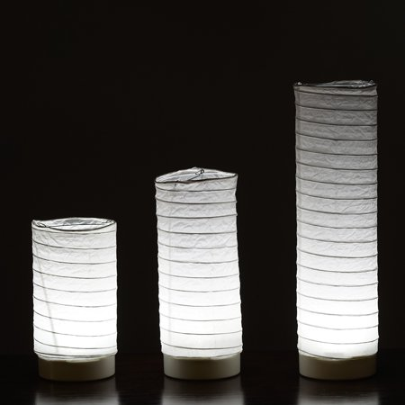 Efavormart 3pcs Glowing Cylinder Tube LED Light up Tabletop Paper - Light Gloving