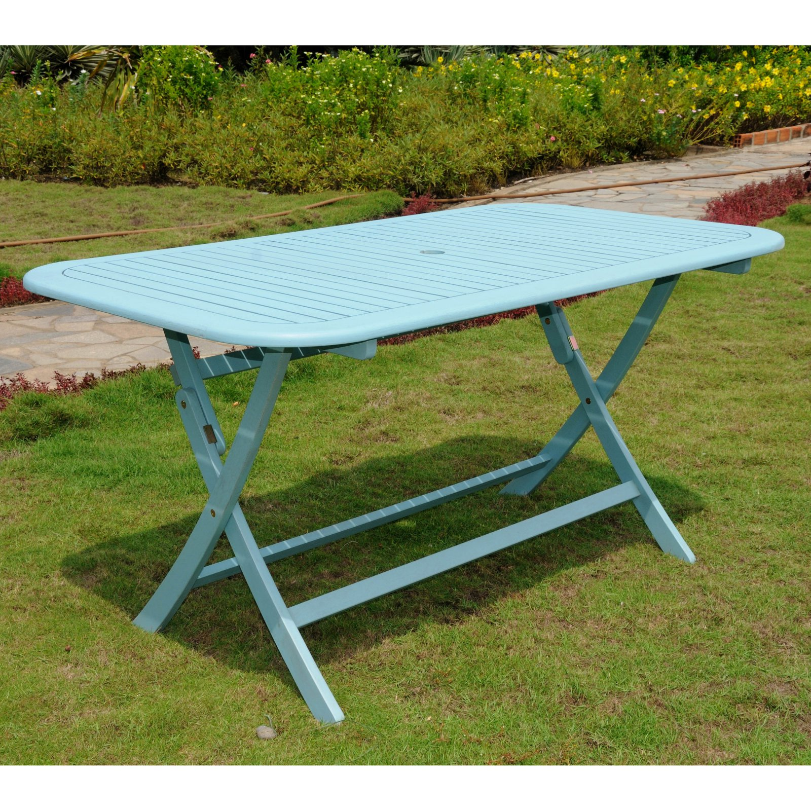 International caravan chelsea acacia painted folding patio dining table walmart com