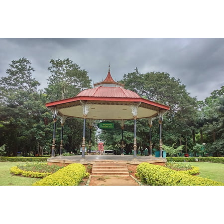 Laminated Poster Roofed Pergola Recreation Band Stand