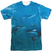 Wild Wings Whales (Front Back Print) Mens Sublimation Shirt