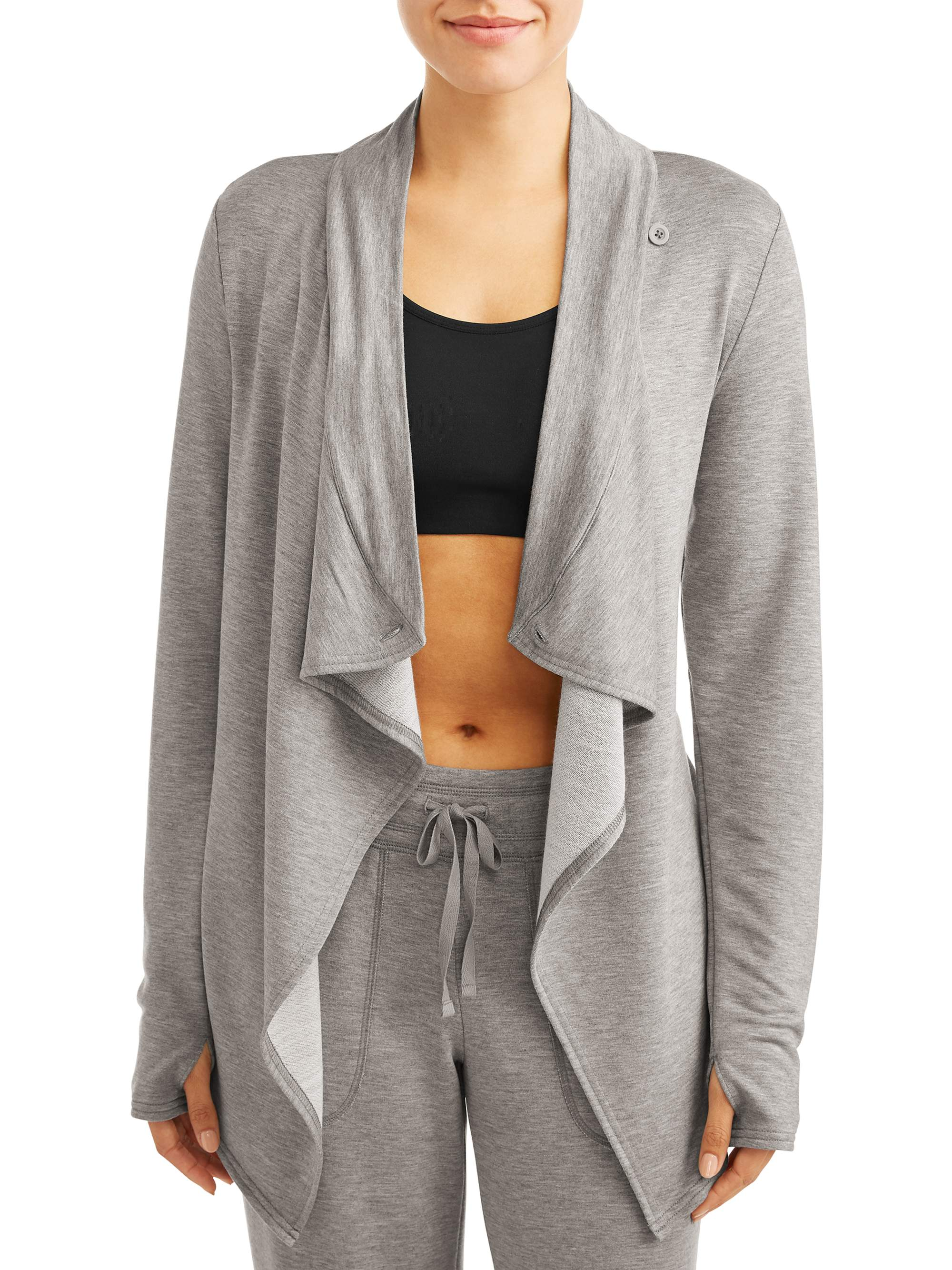 Athletic Works Women?s Knit Wrap Cardigan