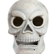 Alpine Corporation Halloween White Skull with LED Lights and Motion Sensor