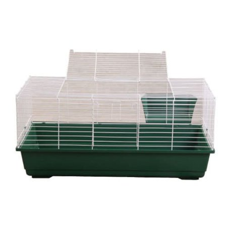 A AND E CAGE COMPANY LLC Rabbit/Guinea Pig Plastic/Metal Wire Cage](Person In A Cage)