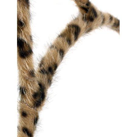Brown Leopard Print Cat Ear Detailing Hair Hoop Headband for - image 1 of 2