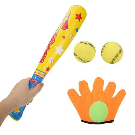 Ejoyous 4PCS Sports Baseball Toys Soft Baseball Bat Ball Glove Set for Kids Children Gifts, Soft Baseball Toy, Baseball Toy Set - image 3 of 8