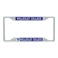 Alumni Desert Cactus Wellesley College Blue NCAA Metal License Plate Frame for Front or Back of Car Officially Licensed