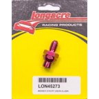 "Longacre 3/16"" to 4 AN Red Straight Bulkhead Fitting P/N 45273"