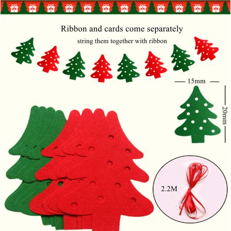2 2m Christmas Tree Banner Hanging Decoration Tree Ornaments Pendants For Home Holiday Christmas Garland Party Decor Photo Prop