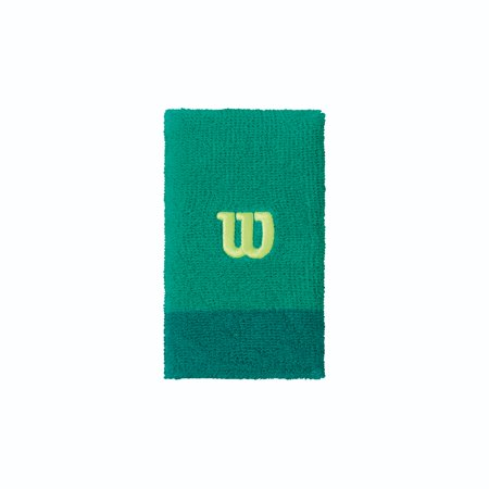 Wilson Extra Wide W Wristband, Green](Dance Wristbands)