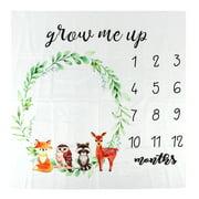 Fosa Monthly Blanket, Baby Milestone Blanket,Baby Milestone Blanket Boys&Girls Photography Props Growth Record Blanket