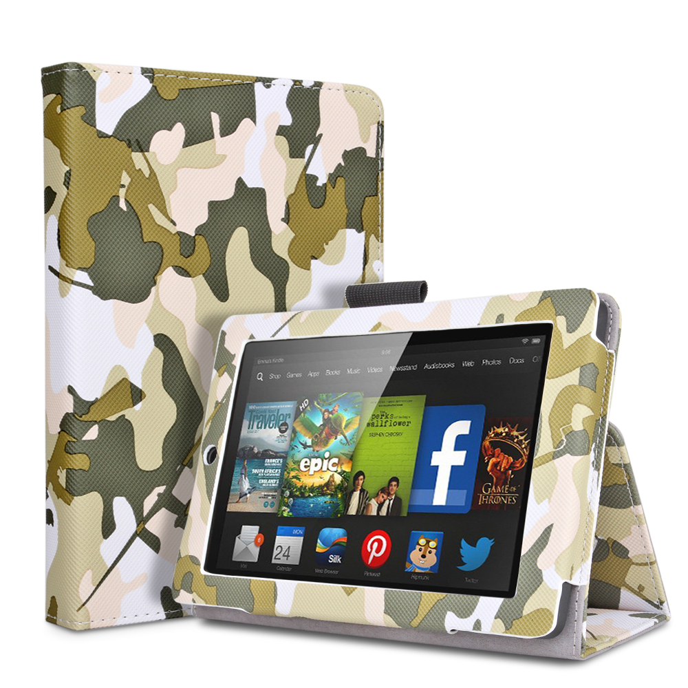New fire 7 case camouflage army green slim fit for Amazon casa