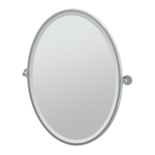 Gatco Channel Framed Oval Mirror by Gatco