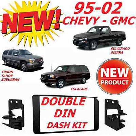 1995-2002 GM FULL SIZE TRUCK & SUV DOUBLE DIN CAR STEREO INSTALLATION DASH -