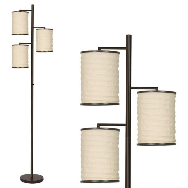 Lantern Style Beige Fabric Shades