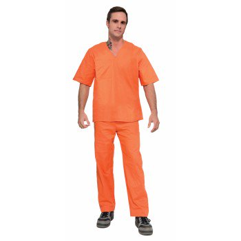 CO-PRISONER SUIT-2PC-ORANGE - Prisoner Costume Orange