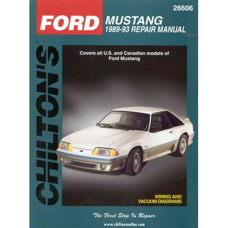 Chilton's Ford Mustang 1989-93 Repair Manual