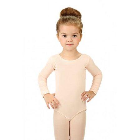 b70d2c3d3 Elowel Pajamas - Elowel Girls  Team Basics Long Sleeve Leotard Nude ...