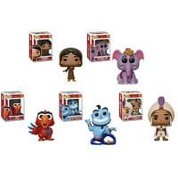 Funko POP! Disney - Aladdin S2 Vinyl Figures - SET OF 5 (Jasmine, Genie, Iago, Abu & Ali)