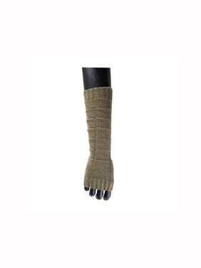 1606-D229 Unisex Thumbhole Fingerless Cable Knit Knitted Gloves F