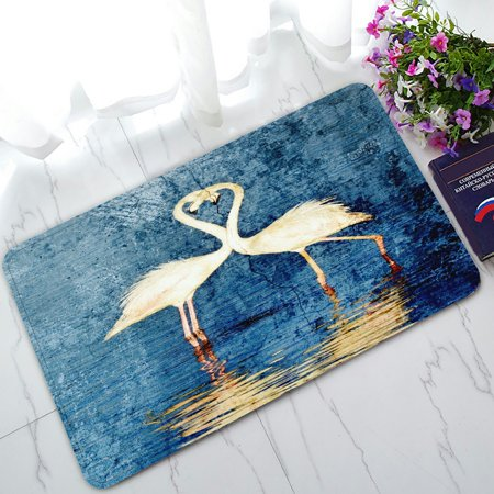 PHFZK Animal Doormat, Couple Flamingos Doormat Outdoors/Indoor Doormat Home Floor Mats Rugs Size 30x18 inches