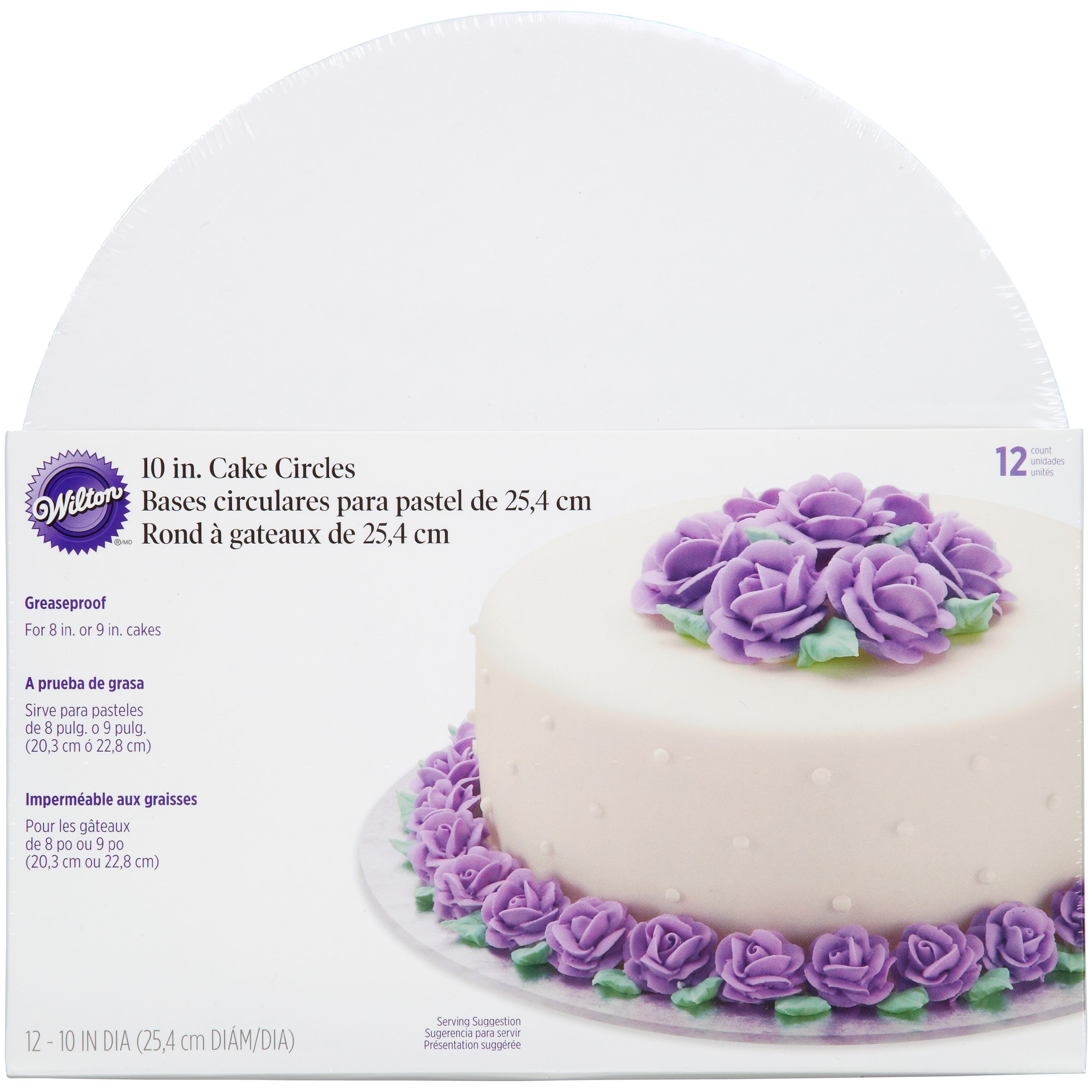 Wilton Cake Boards Set Of 12 Round Cake Boards For 10 Inch Cakes Walmart Com