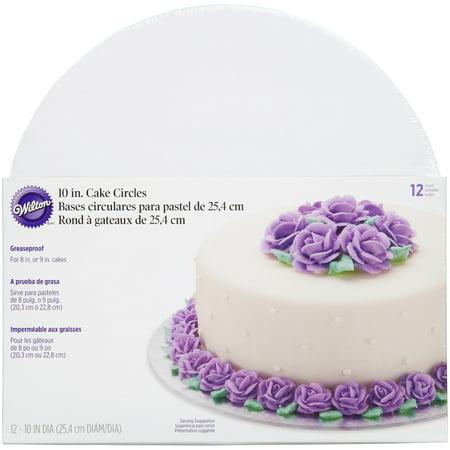Round Masonite Cake Board (Wilton Cake Boards, Set of 12 Round Cake Boards for 10-Inch)