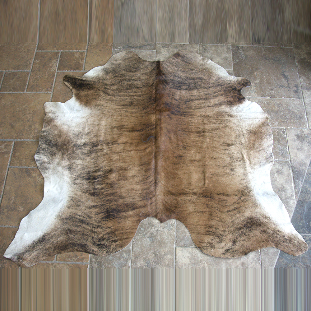 GENUINE HAIR ON LEATHER ARGENTINA COWHIDE SKIN RUG CARPET
