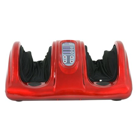 Zeny Shiatsu Foot Massager Kneading and Rolling Leg Calf Ankle w/Remote,Red ()