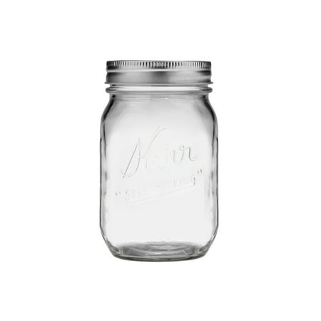 Kerr Glass Mason Jars w/ Lids & Bands, Regular Mouth, 16 Ounces, 12 Count](Mason Jar Prices)