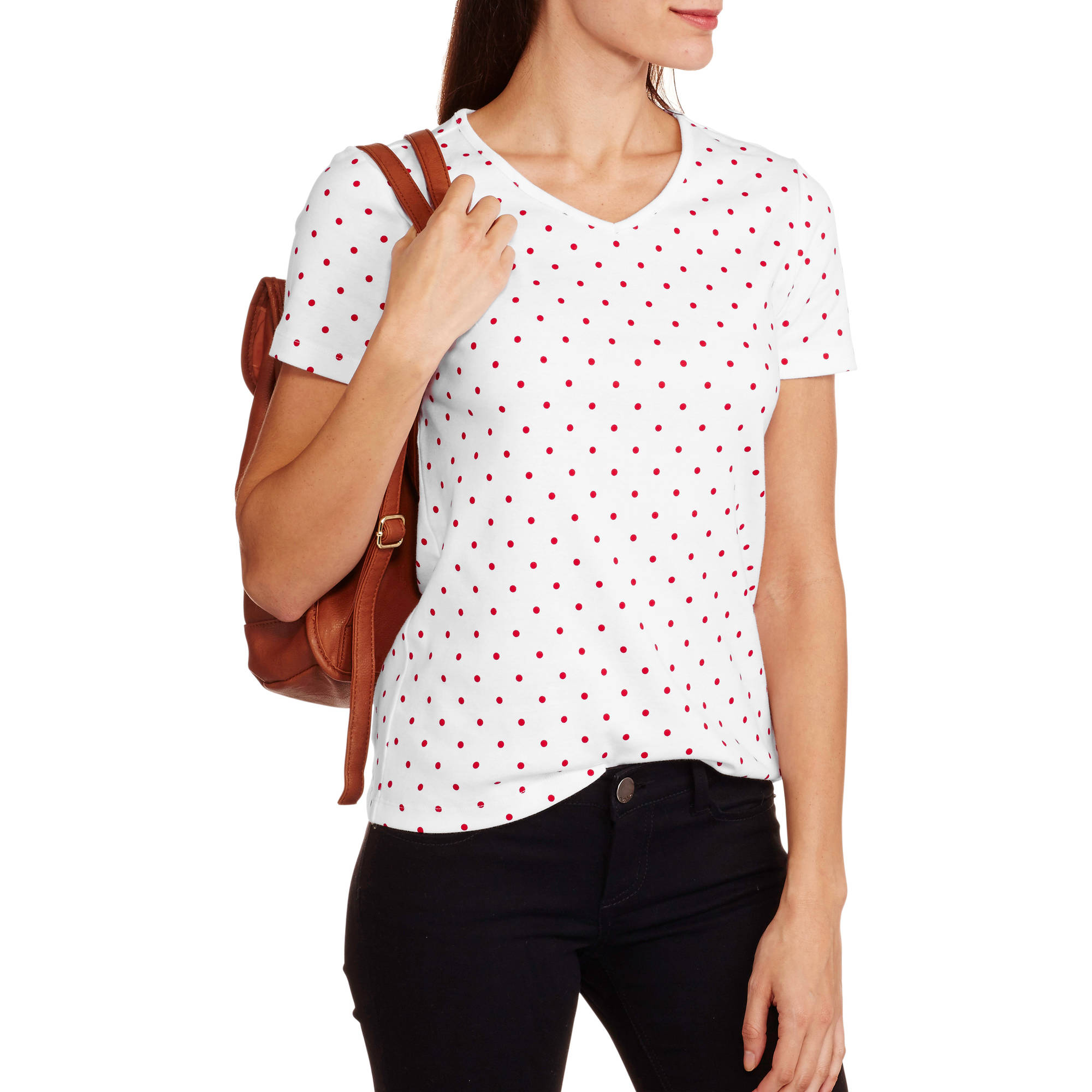 White Stag Women's Short Sleeve Printed V-Neck T-Shirt