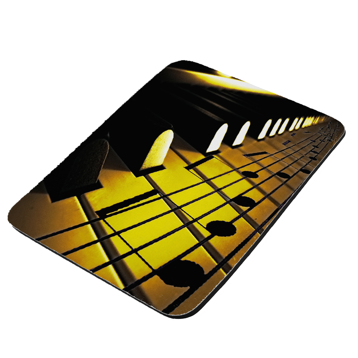 Sheet Music On Piano Keys - KuzmarK Mousepad / Hot Pad / Trivet