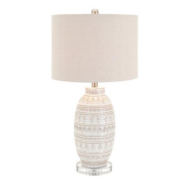 IMAX 59274 Addonis Ceramic Table Lamp, Beige - image 1 of 1