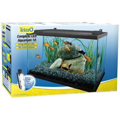 Aquatics Tetra Deluxe LED Aquarium Kit, 10 gal