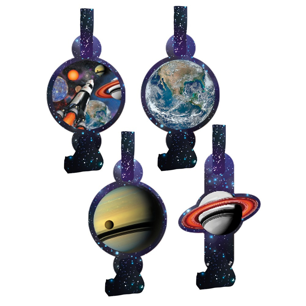Space Blast Blowouts with Medallion/Case of 48