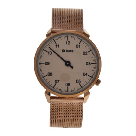 KU15-0014 Rose Gold Stainless Steel Mesh Bracelet Watch by Kulte for Unisex - 1 Pc Watch - image 1 de 2