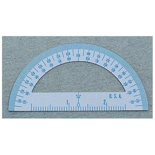 CLI Metal Protractor, Pack of 36, White by Charles Leonard Inc