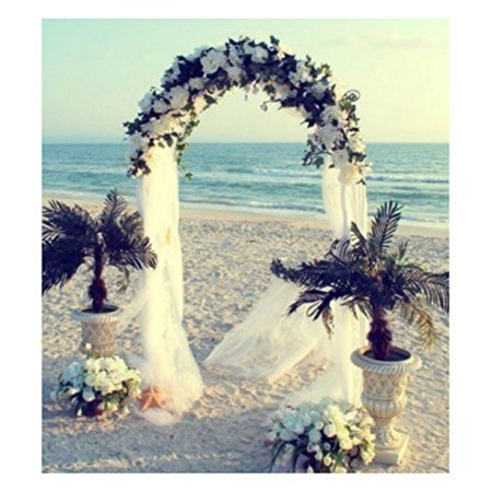 white metal arch 7.5 ft for wedding party bridal prom garden floral decoration](Prom Decoration Kits)