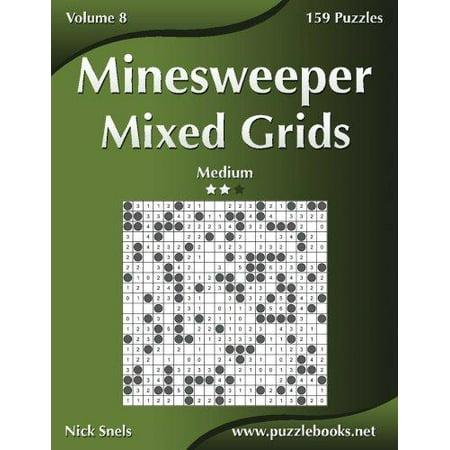 Minesweeper Mixed Grids   Medium   Volume 8   159 Logic Puzzles