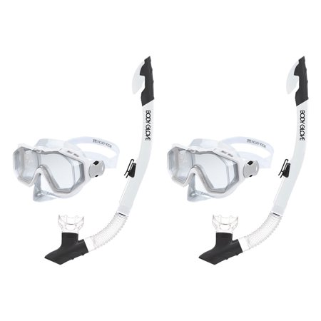 Body Glove Predator Purge Size Large Aquatic Mask and Snorkel Combo Set (2 Pack) - Purge 2 Mask