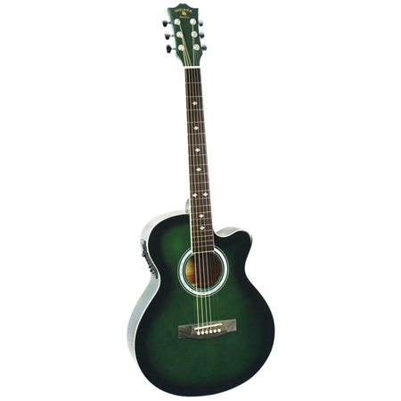 Indiana Madison Green Burst Acoustic/Electric
