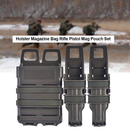 Hilitand Tactic Molle Holster Magazine Bag Rifle Pistol Mag Pouch Set for Military Hunting Game,  Molle Magazine