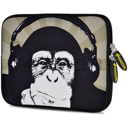 Universal 10.5 Inch Soft Neoprene Designer Sleeve Case Pouch for 10.5 Inch Tablet, eBook, Netbook - Ape Music (Music Book Carrying Case)