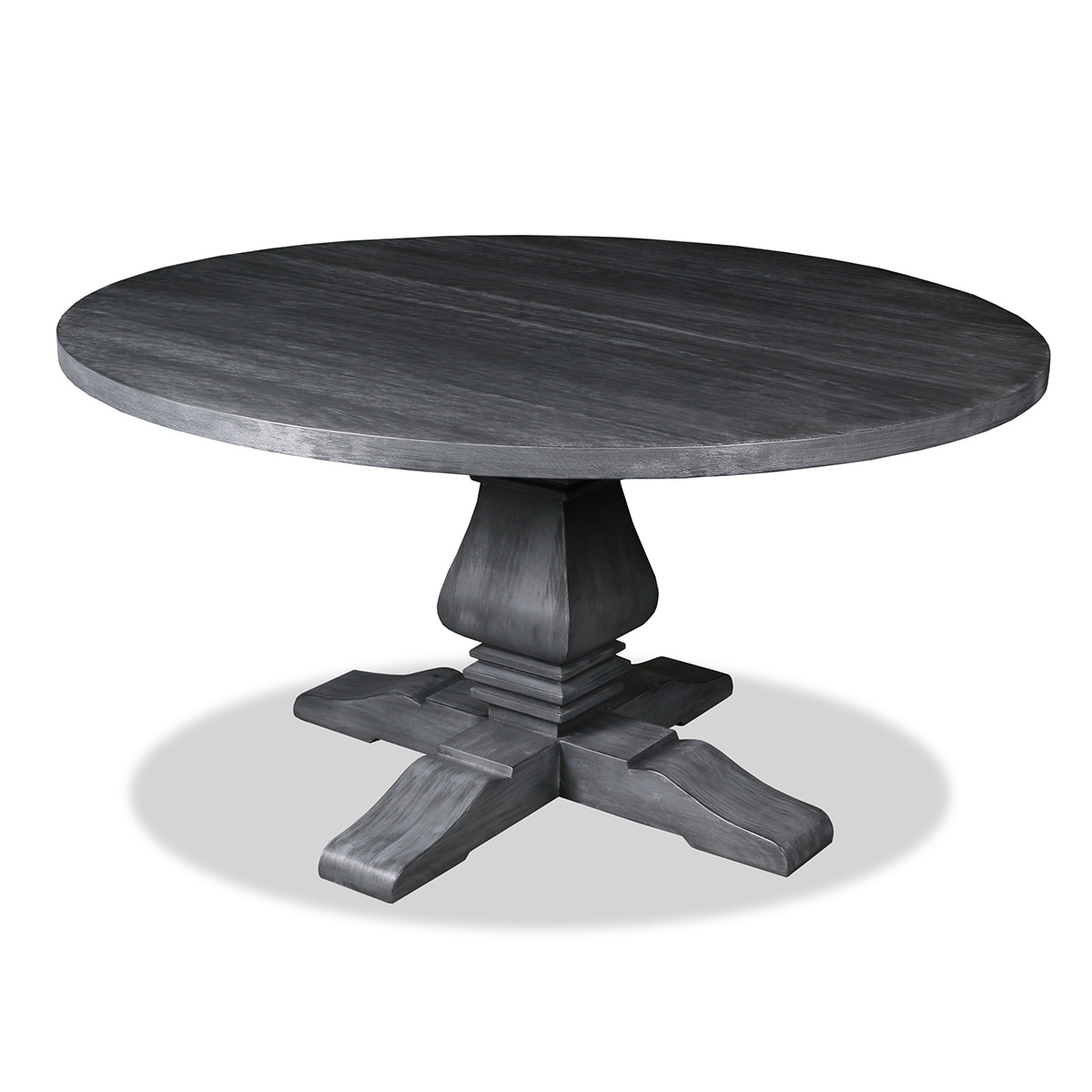 South Cone Home Toscana Reclaimed Wood Round Dining Table, Grey