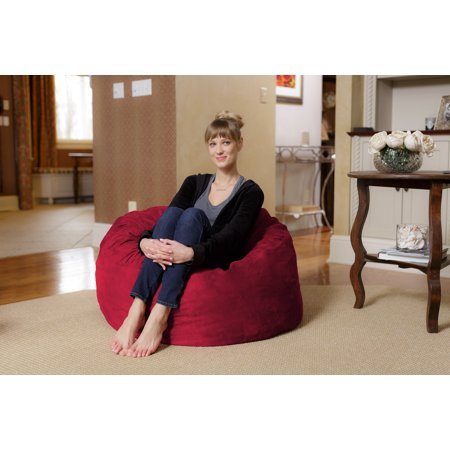 Chill Sack 3 Ft Memory Foam Microsuede Bean Bag Chair