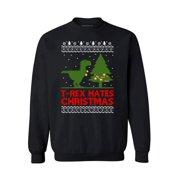 awkward styles t rex hates christmas christmas sweatshirt t rex christmas dinosaur ugly christmas sweater - Redneck Christmas Sweaters