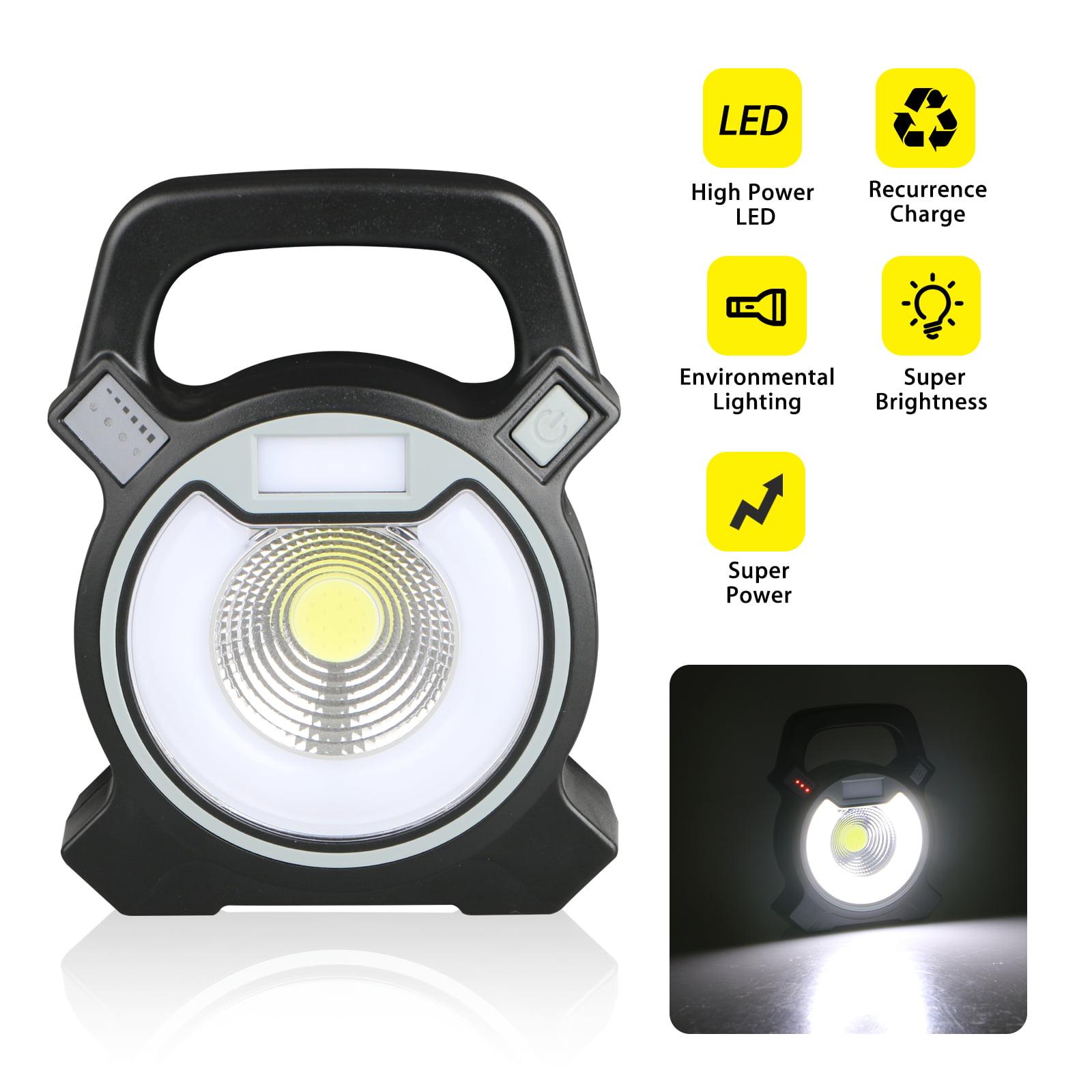 30W Portable Rechargeable LED Flood Light Outdoor Garden Work Spot Lamp