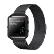 Fitbit Blaze Accessories Watch Band, Milanese Loop Stainless Steel Replacement Bracelet Strap Band + Metal Frame for Fitbit Blaze Smart Fitness Watch (Black)