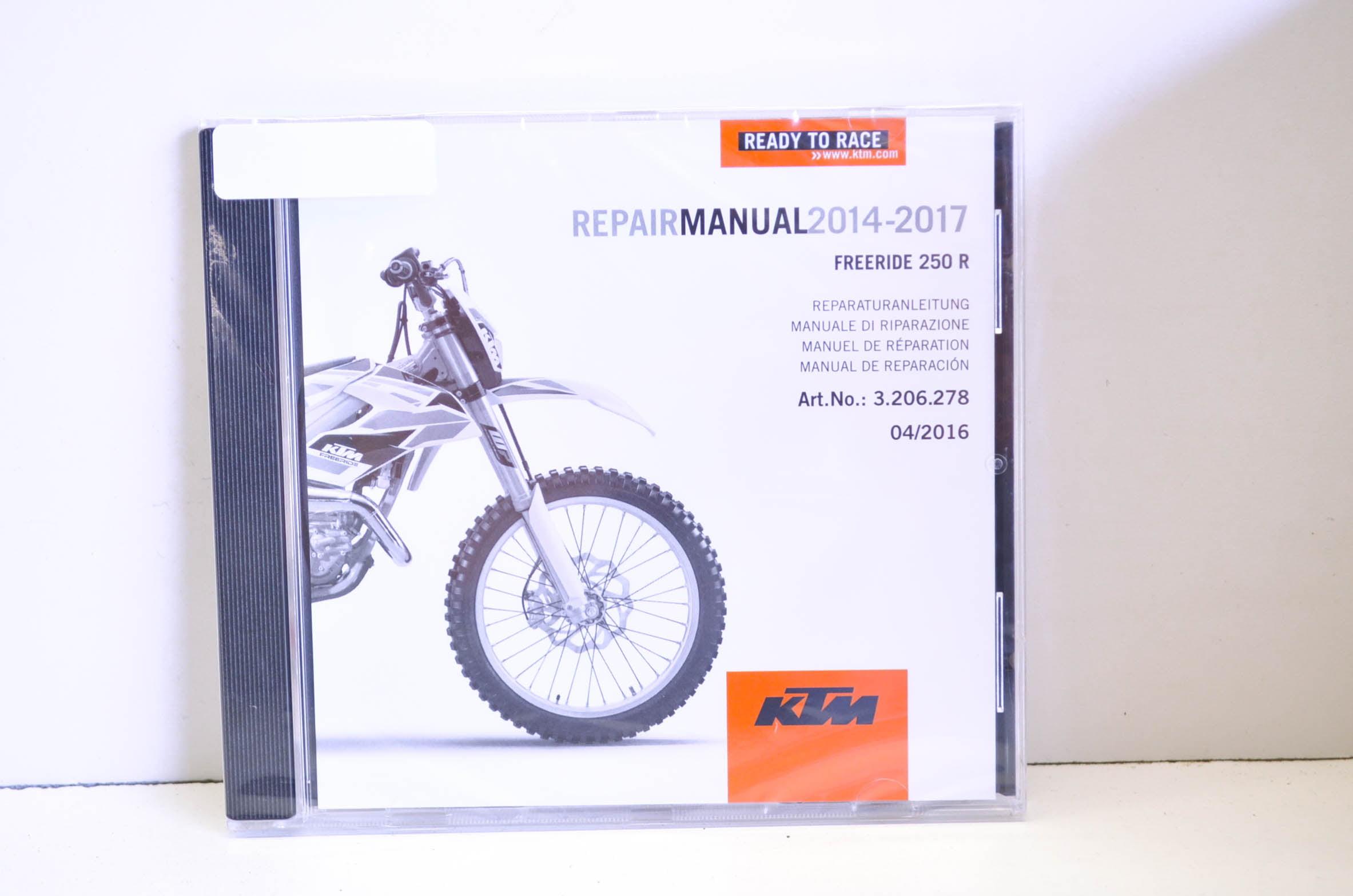 KTM 3206278 2014-2017 Freeride 250 R Repair Manual CD Disc QTY 1 -  Walmart.com
